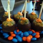 Gators Gameday Grub: Orange & Blue Cake Pops
