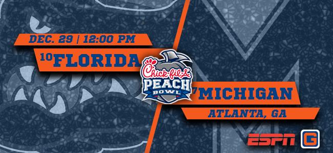 Florida vs. Michigan, Peach Bowl 2018: Prediction, pick, line, spread, odds, watch live stream online