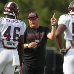 McElwain laughs at Mullen's 'lateral move' slight