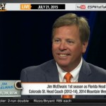 Florida Gators coach Jim McElwain takes first trip through ESPN's car wash on Tuesday
