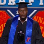 Watch as Carlos Dunlap graduates from Florida at the NFL Draft