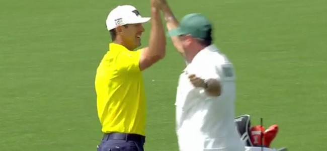 Masters 2016: Billy Horschel slam dunks hole out for 88-yard eagle