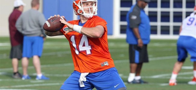 Gators QB Luke Del Rio makes a case to be Florida's starter