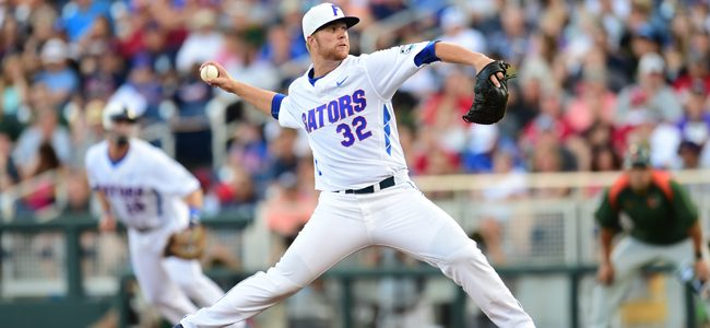 Logan Shore's clutch outing keeps College World Series hopes alive for Florida