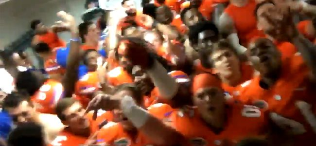 WATCH: Florida Gators go wild in locker room after beating LSU in Death Valley