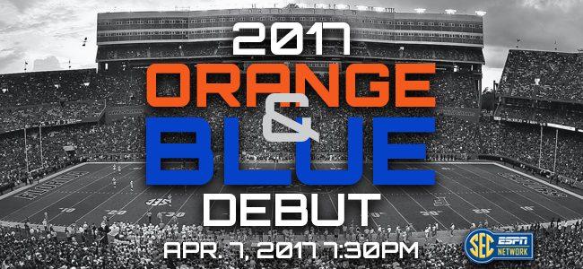 Florida Gators spring game: 2017 Orange & Blue Debut watch live stream online
