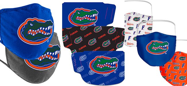 Florida Gators masks, face coverings for sale, multiple styles and fabrics