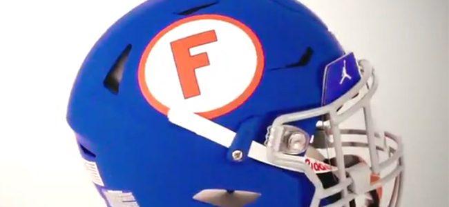 LOOK: Florida Gators unveil blue throwback helmets as part of 1960s uniform for Missouri game