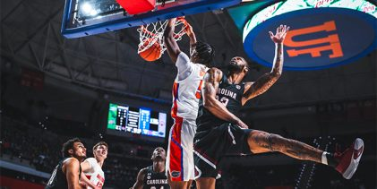 Florida basketball score, takeaways: No. 22 Gators go cold as South Carolina pulls off upset
