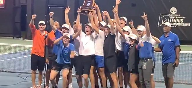 No. 1 Florida Gators men's tennis wins first national title in program history, defeating No. 2 Baylor